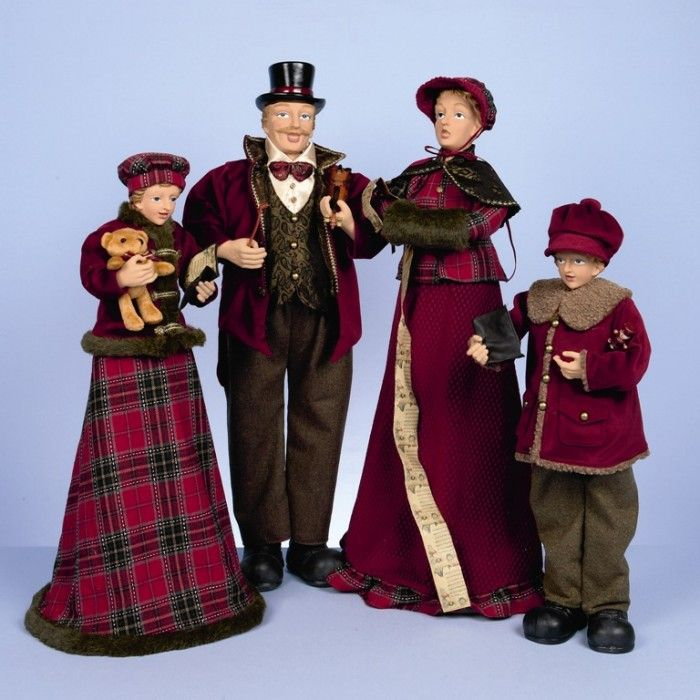 Christmas Carol Singers Ornaments.Ceramic Christmas Caroler Figurines Parma Collectibles 1950s