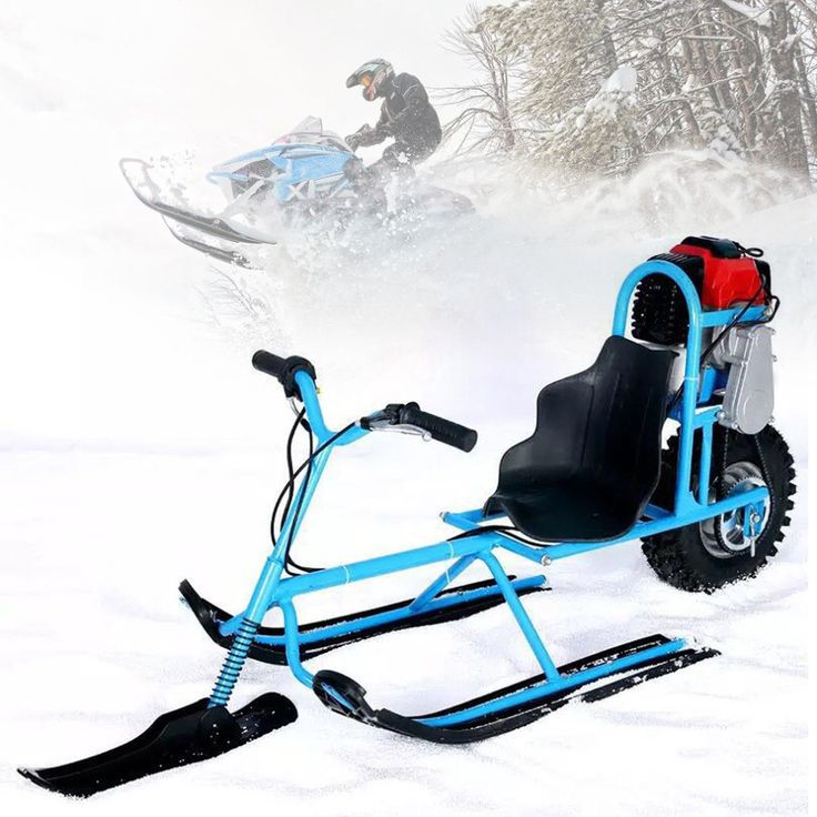 Electric Skiing Vehicle Single Board Fuel Snowmobile Directional Snow Sledge Skiing Boards For Children Skiing Equipments Safety