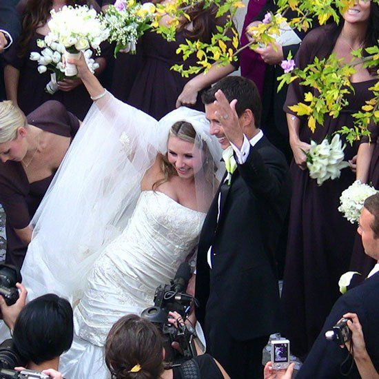 Pin for Later: The Ultimate Celebrity Wedding Gallery  Beverley Mitchell and Michael Cameron went to Italy for their October 2008 nuptials.