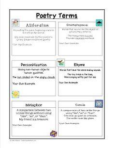 Figurative Language Worksheets