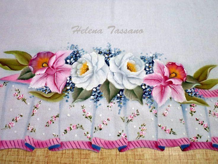 Helena Tassano Artesanato, Pintura em Tecido, Aulas de Pintura, Pintura sobre Tela