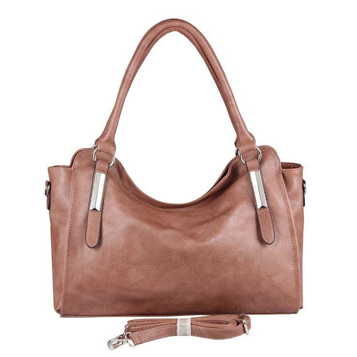 OBC DAMEN TASCHE HANDTASCHE Schultertasche Shopper Damentasche Umhängetasche Henkeltasche Beuteltasche Hobo Bag Crossover Altrosa – Italyshop24.com