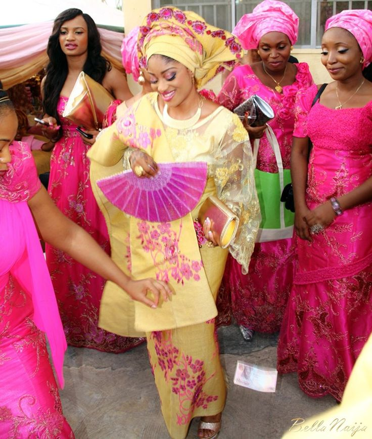 Nigerian Traditional Wedding Dresses: Elizabeth John & Yomi Black Traditional Nigerian Wedding