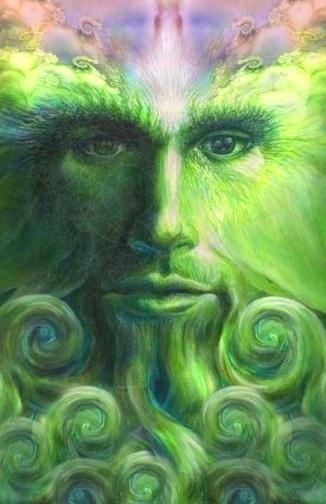 The Greenman, Cernunnos/Herne the Hunter... By Artist Unknown...