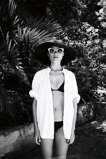 Black bikini and white shirt #summer #style