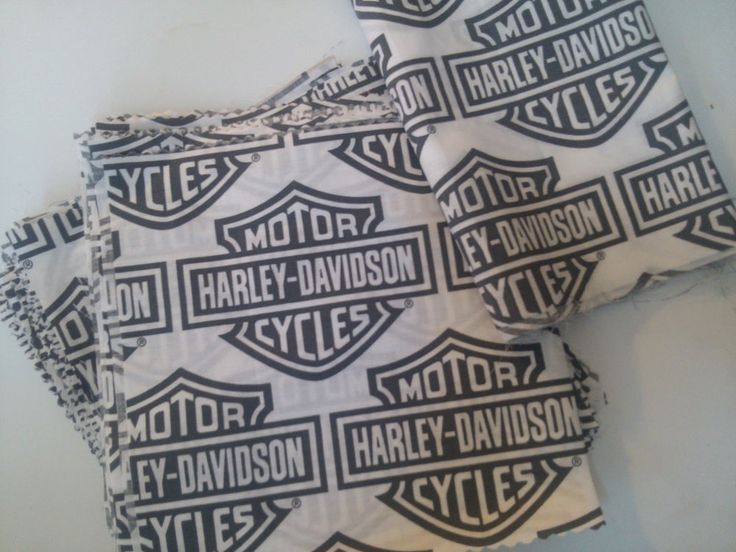 Harley Davidson Fabric--8 inch squares and a remnant