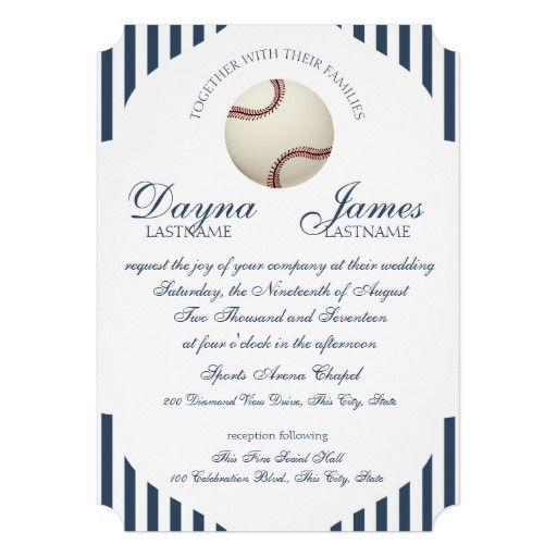 17 Best images about Sports Wedding Invitations – Invitation Card Wedding