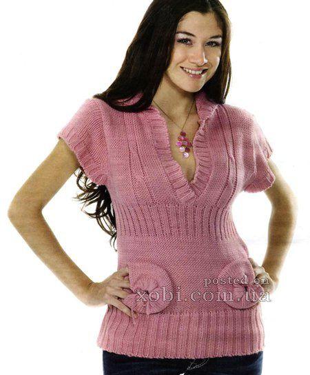 Приталенный жилет с интересными карманами - Вязание спицами - Страна Мам