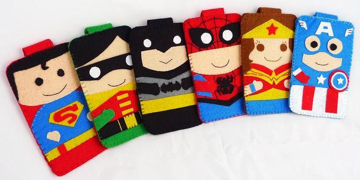 Hero collection Handmade Robin Batman iphone, iphone 4S felt cell phone case (FREE SHIPPING). $18.00, via Etsy.