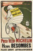 O'GALOP, Marius ROSSILLON dit (1867 - 1946) (attribué à)  LE MEILLEUR, LE MOINS CHER - MICHELIN PNEU VÉLO - 1913