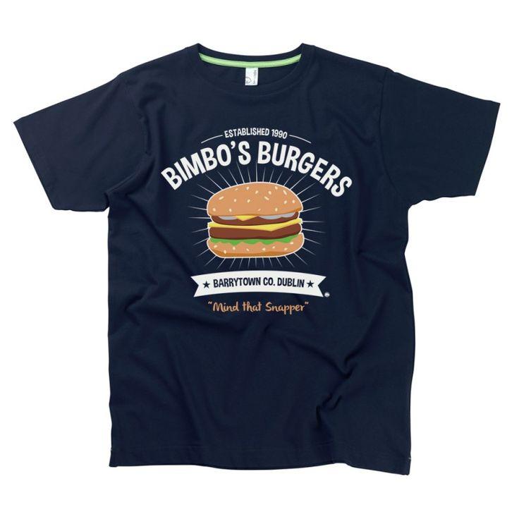 Bimbo's Burgers Men's T-Shirt by HairyBaby.com,
