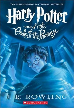 Harry Potter and the Order of the Phoenix (Harry Potter, #5) - There is a door at the end of a silent corridor, and it's haunting Harry Potter's dreams. Why else would he be waking in the middle of the night, screaming in terror?    Harry has a lot on his mind for this, his fifth year at Hogwarts: a Defense Against the Dark Arts teacher with a personality like poisoned honey; a big surprise on the Gryffindor Quidditch team; and the looming terror of the Ordinary Wizarding Level exams.