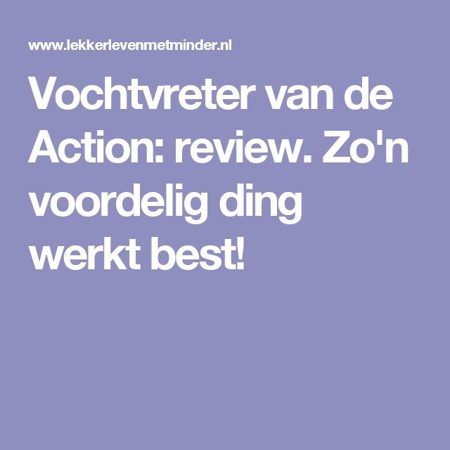 Vochtvreter van de Action: review. Zo'n voordelig ding werkt best!