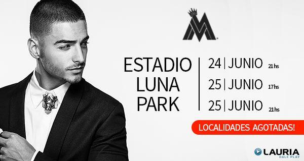 """@maluma Arrollador Éxito! Tres Luna Park agotados a diez días del comienzo de su gira!  TRES ESTADIOS LUNA PARK Y DOS SHOWS EN ROSARIO Y CÓRDOBA COMPLETAMENTE AGOTADOS!  Maluma es sensación y revoluciona todo a su paso. Cada novedad sobre el talentoso Artista Colombiano es furor en las redes sociales y plataformas digitales. Hace un mes estrenó el tan esperado videoclip oficial de """"El Perdedor"""" que se mantuvo por cuatro semanas en el puesto #1 de los listados de radio a través de toda…"""