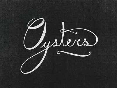 Designspiration — Dribbble - Island Creek Oysters by Jennifer Lucey-Brzoza