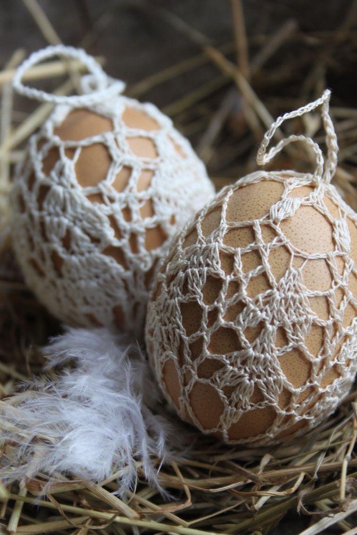 Fijn om gehaakte eieren uit Inhaken op de lente