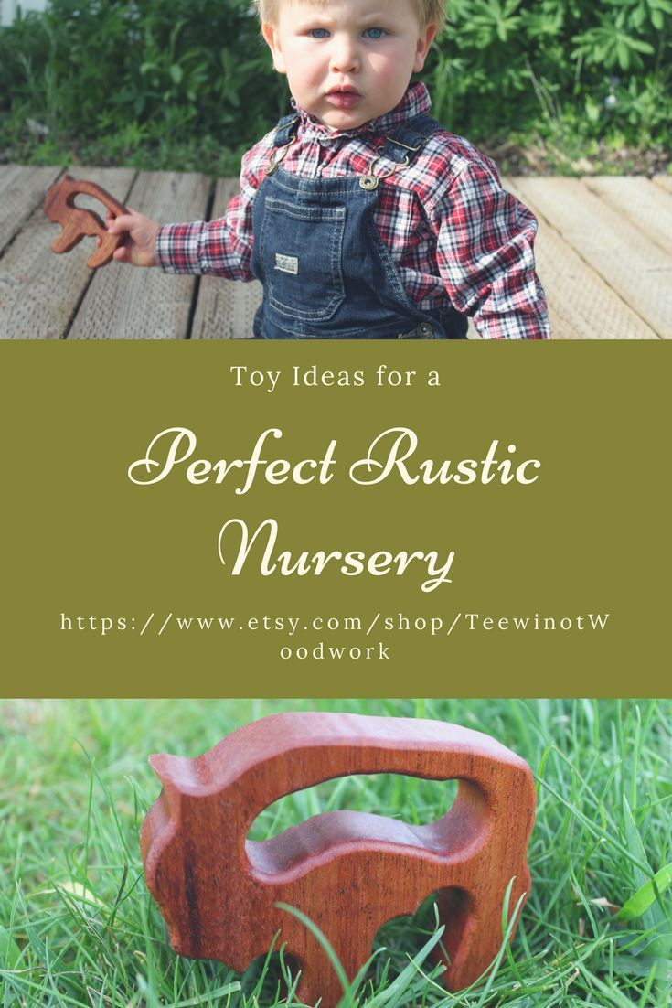 Do you need ideas for simple, elegant toys for your rustic nursery? Here are a couple that can double as decor and toys!