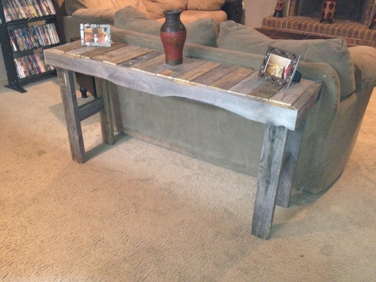 Sofa Table Made From Pallets Things I Built Pallet