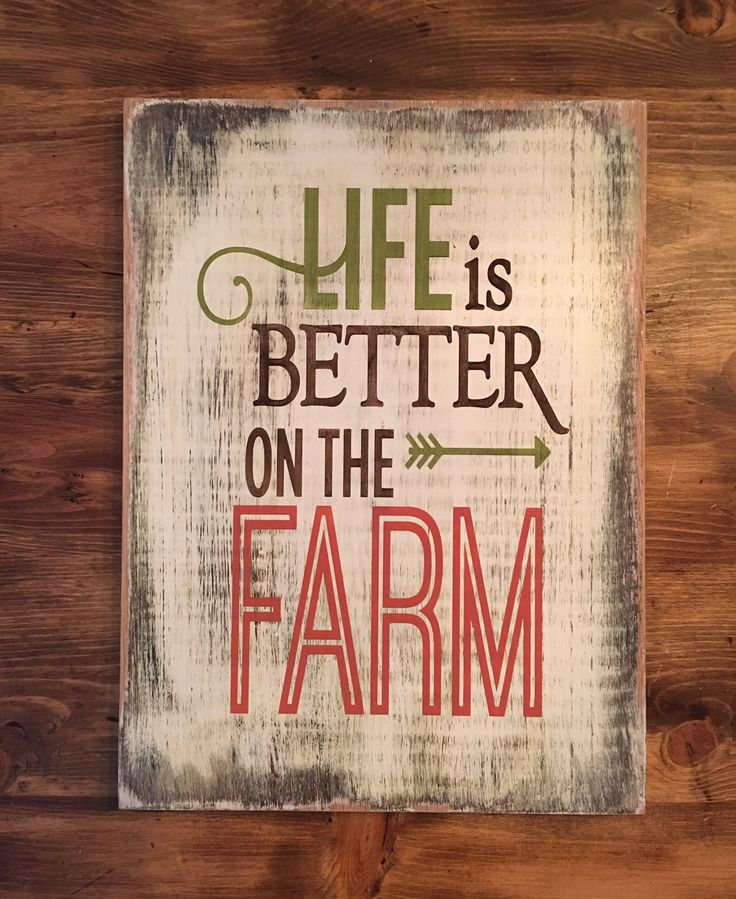 Show your love for the country life with this Life Is Better On The Farm sign.