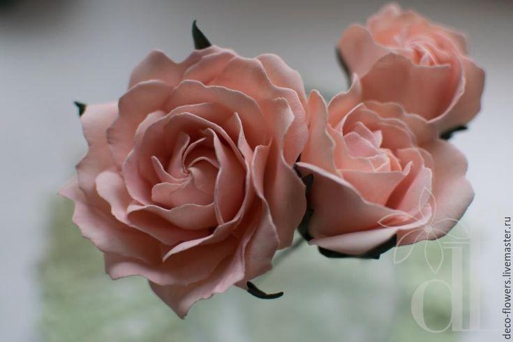 Купить Персиковые розы в стиле Бохо - коралловый, персиковый, бохо, розы, розы в прическу, розовый