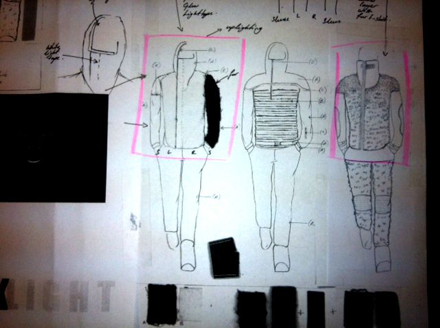 Fashion Sketchbook - innovative sportswear design, fashion portfolio with sketches & fabric samples // Annette Mazinyi