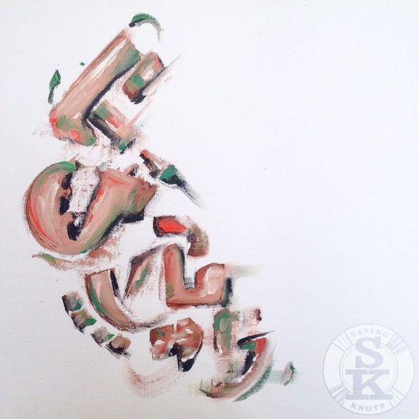 Brina Schenk painting in progress - abstract - calligraphic
