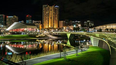 ADELAIDE... shot looking back over the river.