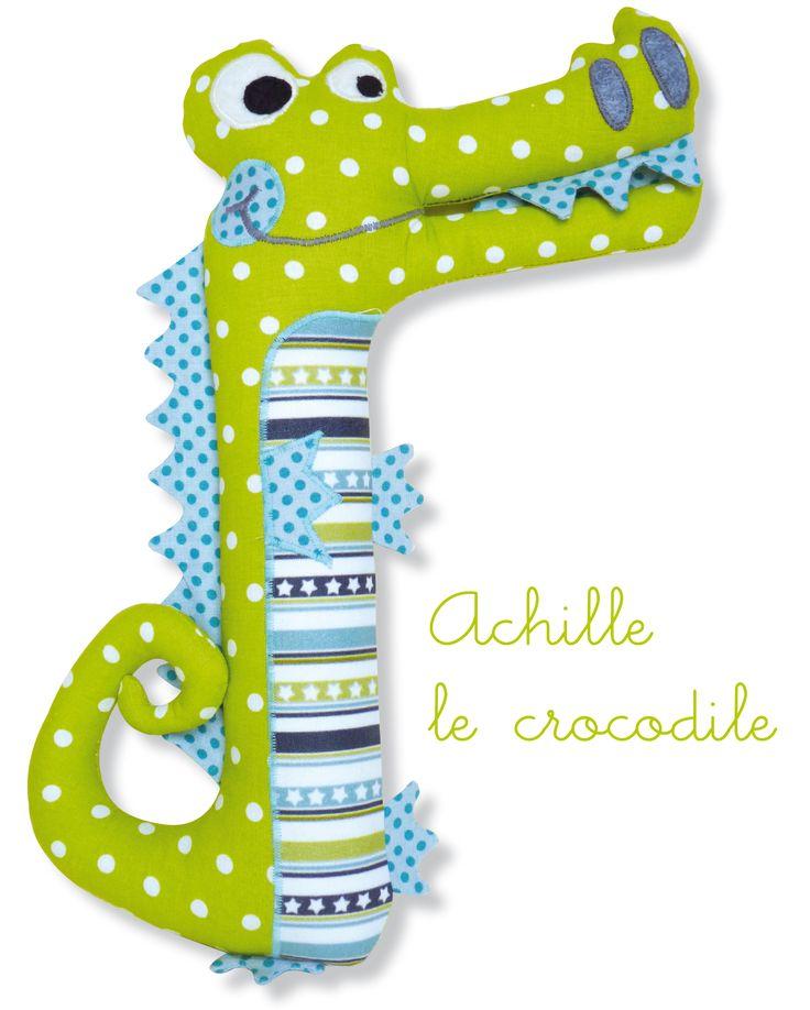 Achille le crocodile - patron gratuit