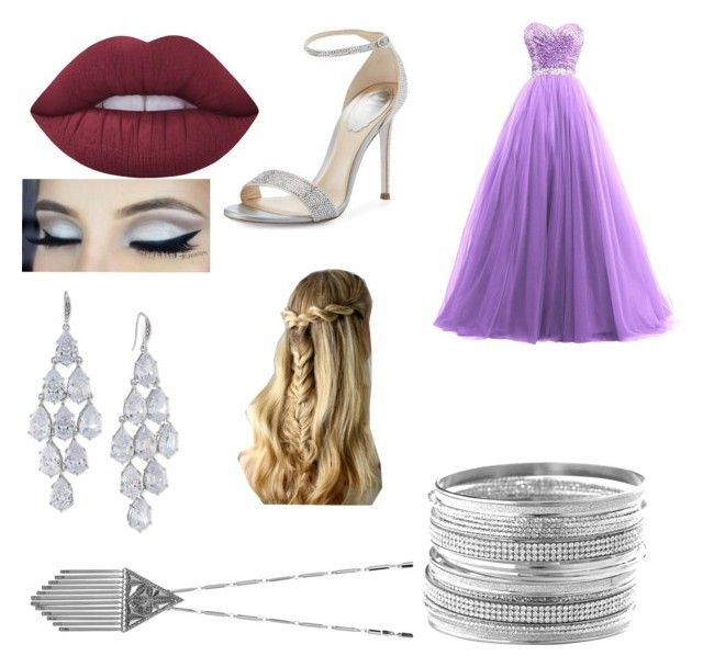 Yule Ball #2 by aniarkdk on Polyvore featuring polyvore, fashion, style, René Caovilla, Avenue, Carolee, House of Harlow 1960, Lime Crime and clothing