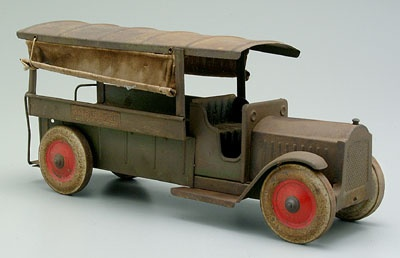 Toy ambulance, roll-down canvas sides