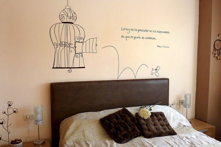Cómo decorar las paredes de tu dormitorio - http://www.decoluxe.net/como-decorar-las-paredes-de-tu-dormitorio/