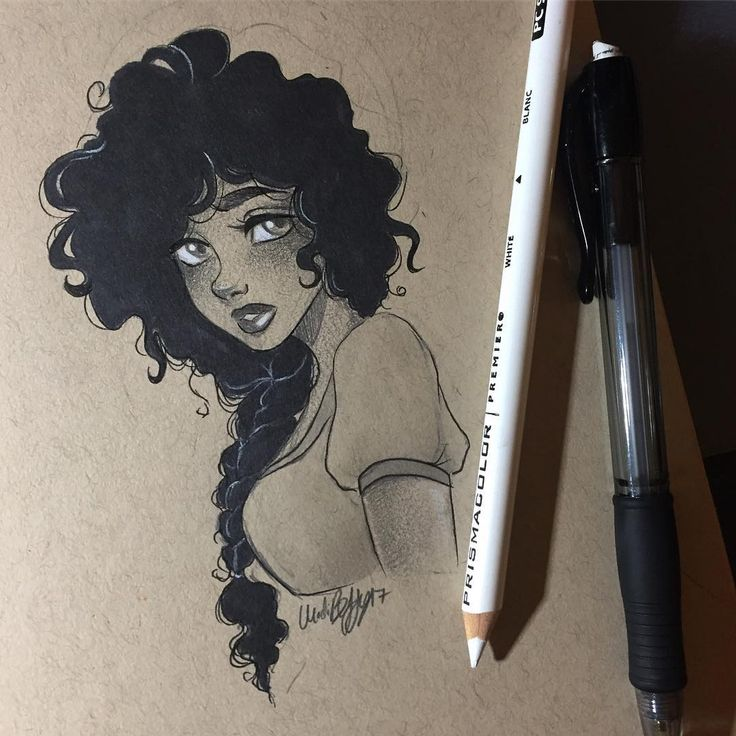 how to draw long curly hair