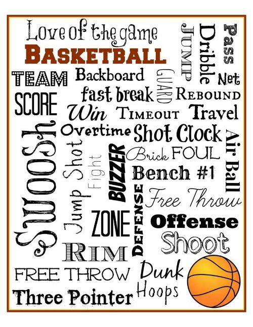 Basketball Subway Art Free Printable - Mini Van Dreams