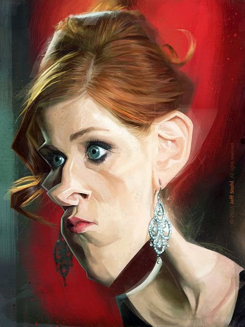La actriz francesa Audrey Fleurot, caricaturizada por el artista Jeff Stahl.     Audrey Fleurot por...