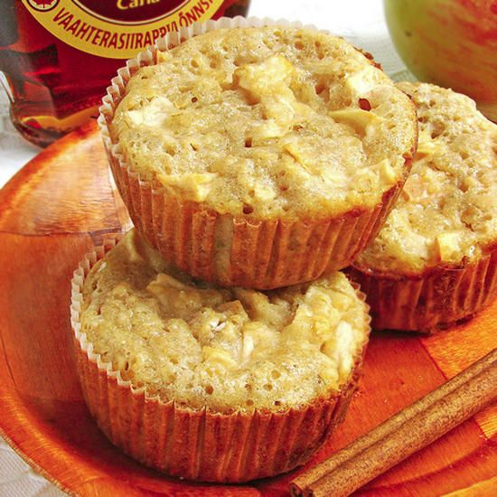 apple cupcakes with oats