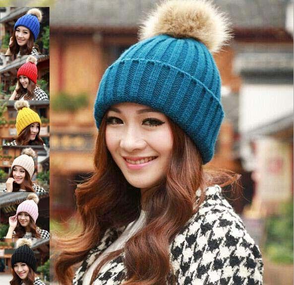 gratis verzending nieuwe hoogwaardige konijn haarbal versieren hoeden voor vrouwen gebreide mutsen voor de in  van  op Aliexpress.com