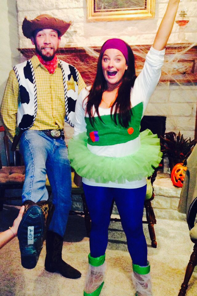 Buzz light year and woody costume, couples costume, girl buzz
