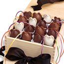 Orange, mocha or cinnamon filled chocolate mice