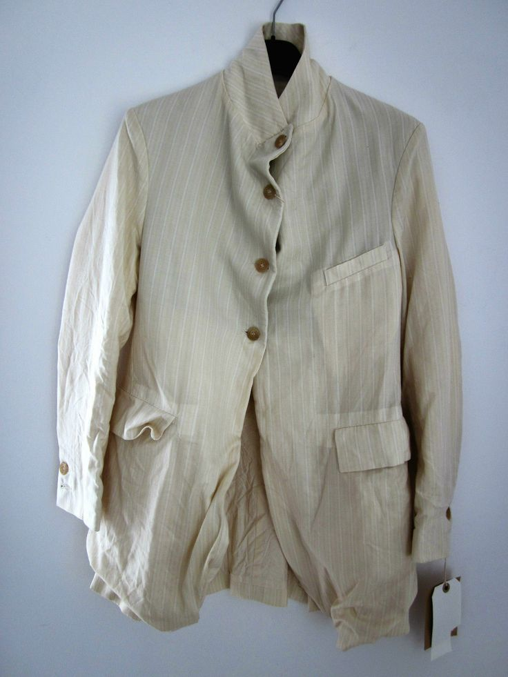 PAUL HARNDEN SHOEMAKERS WOOL STRIPED CREAM BLAZER