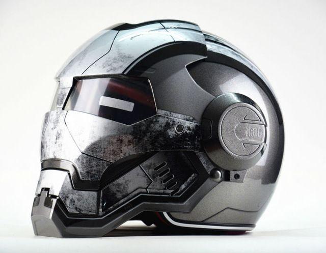 Masei IRONMAN IRON Man War Machine Gris Para mujer para Hombre del casco de la motocicleta medio casco de la cara abierta del casco de ABS motocross casque