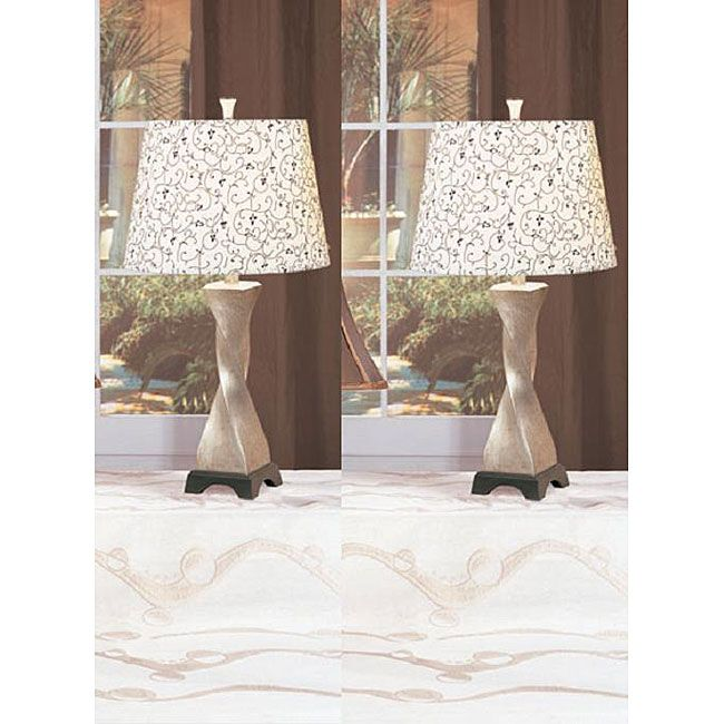 twilight 28inch antique table lamps set of 2