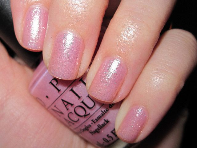 OPI Princesses Rule...love this one too!  It's hard to find a pale pink that looks good on people who are pale pink, but this one doesn't disappoint!