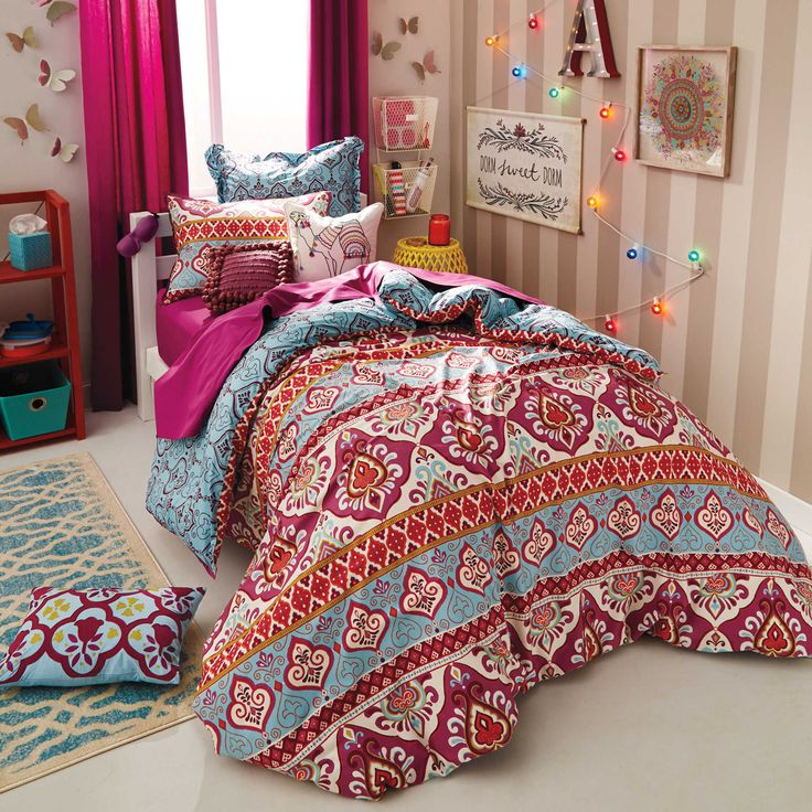 psychedelic dorm girl hanging bedding comforters college room xl comforter twin tapestry wall