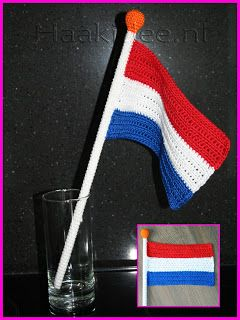 Hook Idea: I love Holland: Crochet Pattern Flag