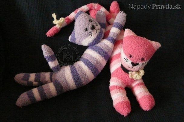 Ponožkové mačičky (fotopostup)