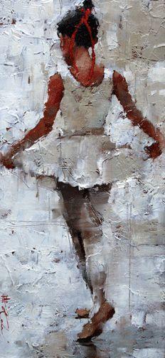 La Petite Danseuse by Andre Kohn (Russian-born Figurative Impressionist, 1972)…