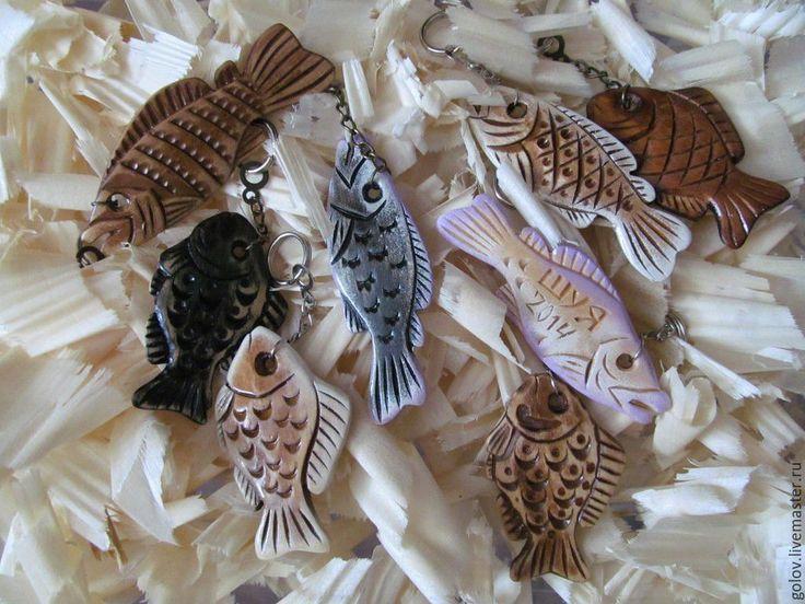 Купить Рыбки - брелки из дерева, рыбки из дерева, деревянные рыбки, брелки, сувениры, магниты