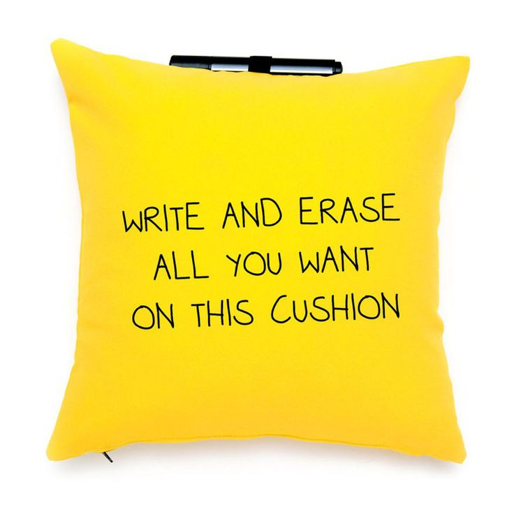 ► Post-It Note Me Throw Pillow ~ So Cool ..love this idea for leaving cute notes for the kids!