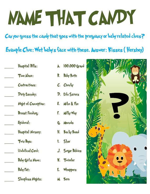 Hey, I found this really awesome Etsy listing at http://www.etsy.com/listing/121976140/jungle-animal-baby-shower-game-name-that