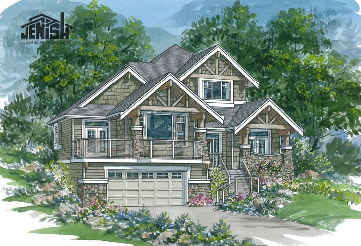 7 upslope home floor plan ideas for Up slope house plans